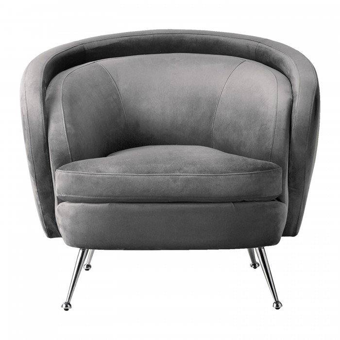 Tesoro Tub Chair Dark Grey Velvet