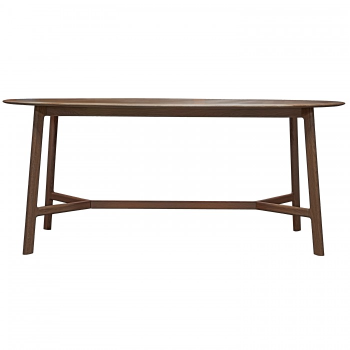 Madrid Oval Dining Table Walnut