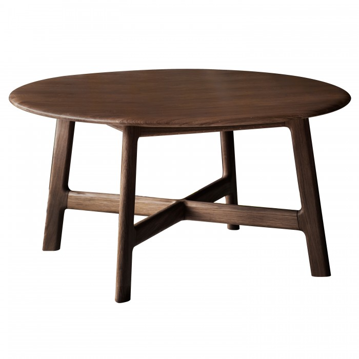 Madrid Round Coffee Table Walnut