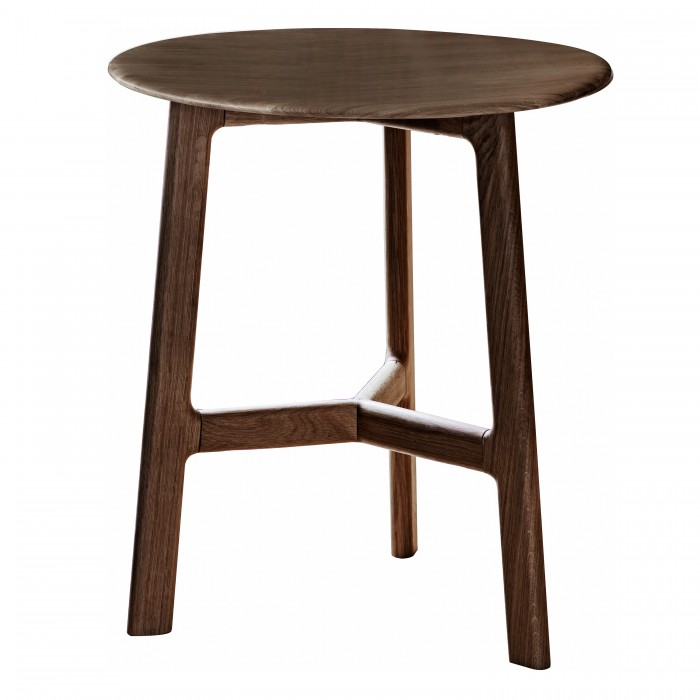 Madrid Round Side Table Walnut
