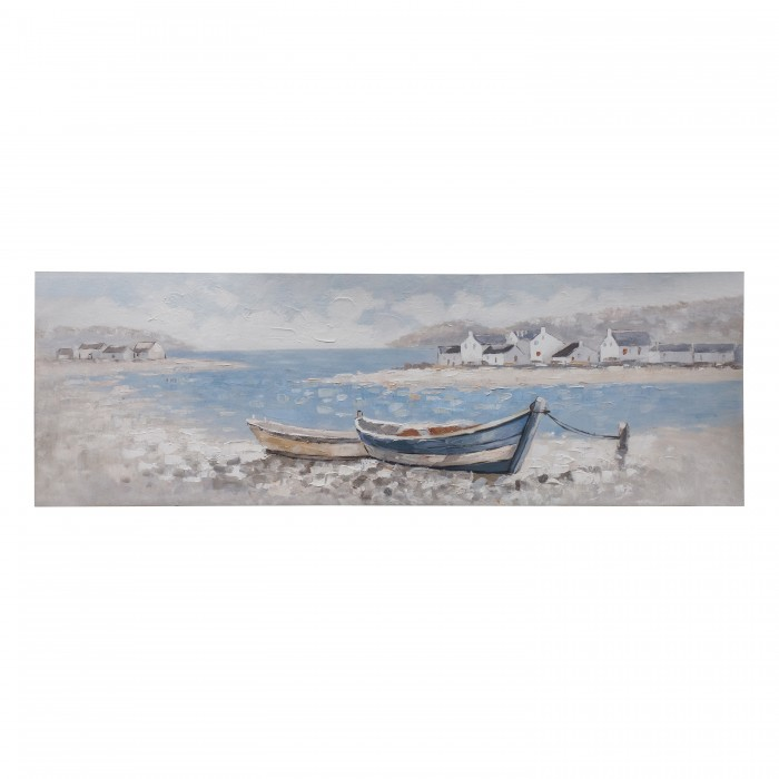 Boats Ashore Art Canvas