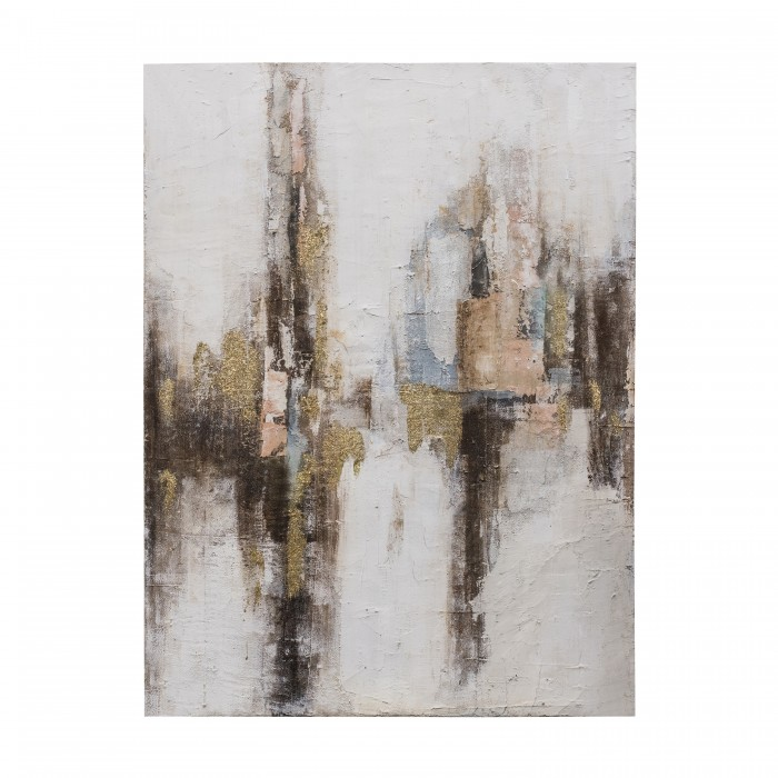 Gilded Abstract Art Canvas