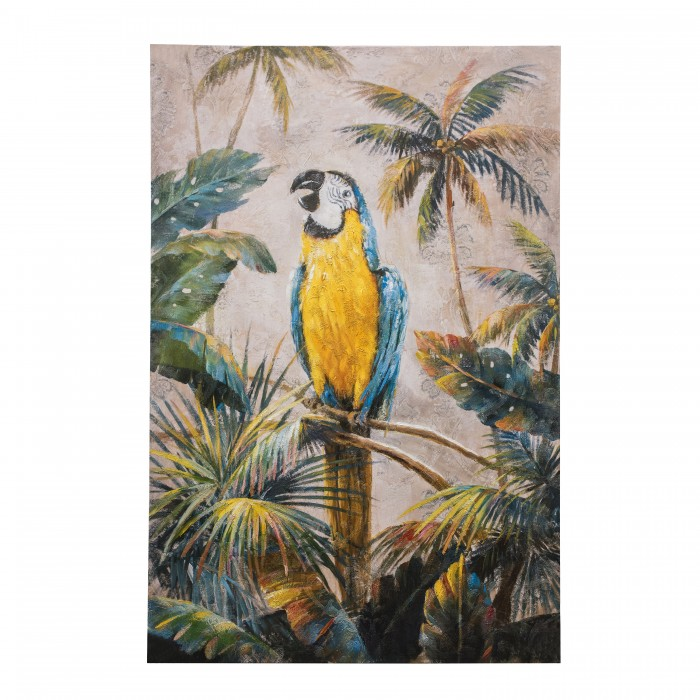 Exotic Macaw Art Canvas