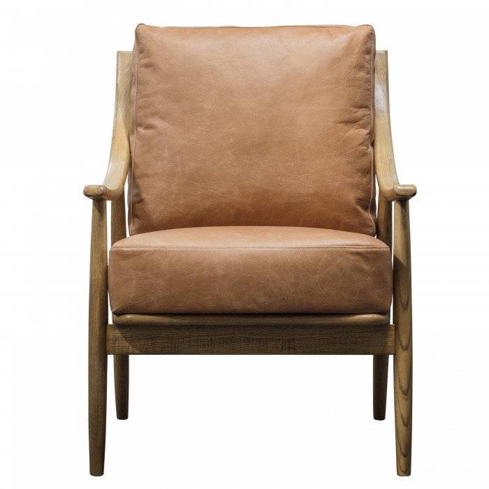 Ashwell Armchair Brown Leather