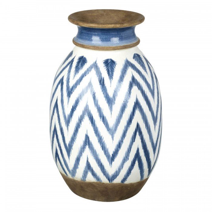 Mykinos Vase White and Blue Small