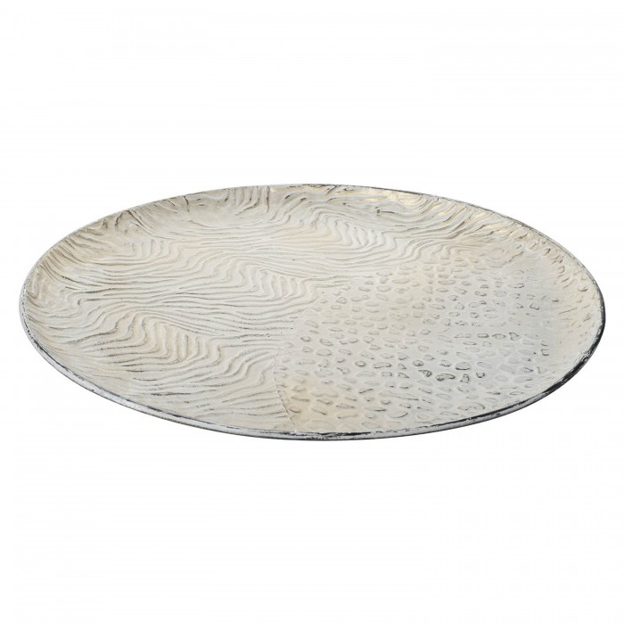 Safari Tray Metal White and Gold