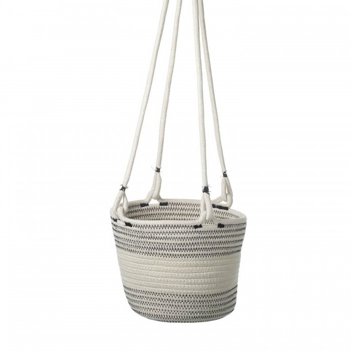 Lissie Hanging Basket White and Grey