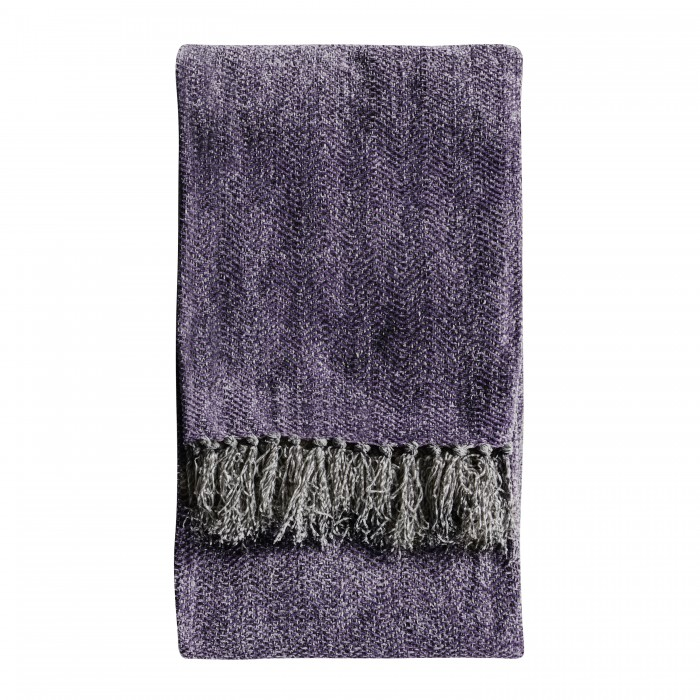 Chenille Herringbone Throw Plum