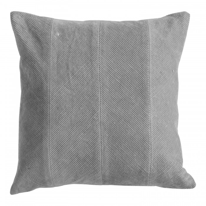 Corduroy Velvet Cushion Grey