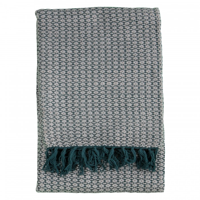 Ballia Metallic Throw Teal