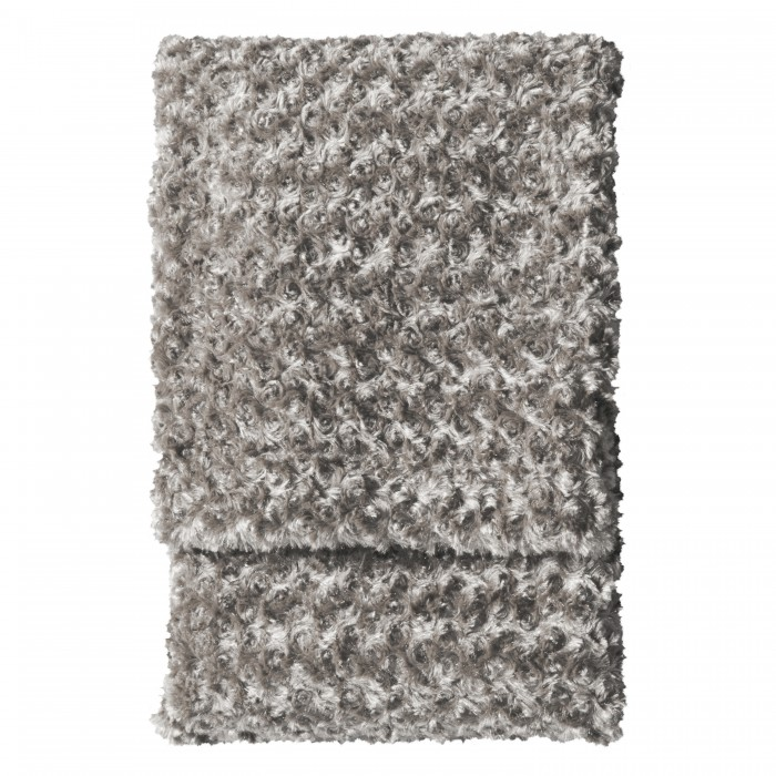 Woodlander Faux Fur Throw Taupe