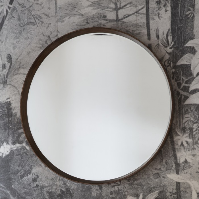 Keaton Round Mirror Walnut