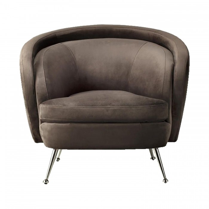 Tesoro Tub Chair Dark Taupe Velvet
