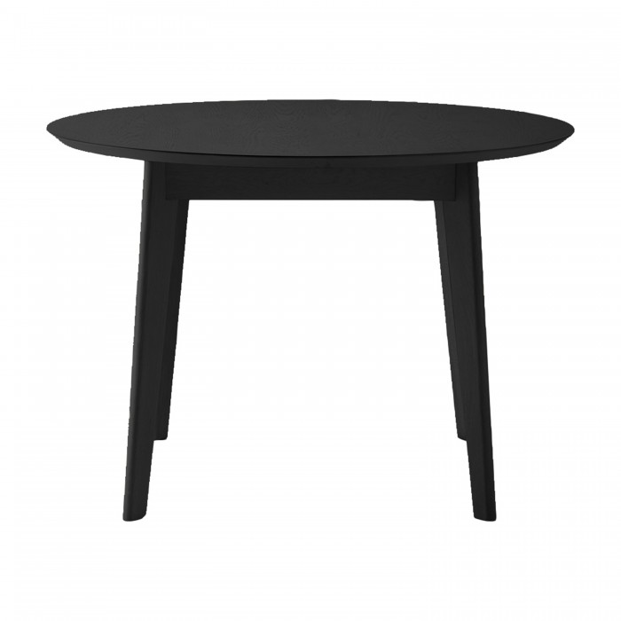 Forden Round Dining Table Black