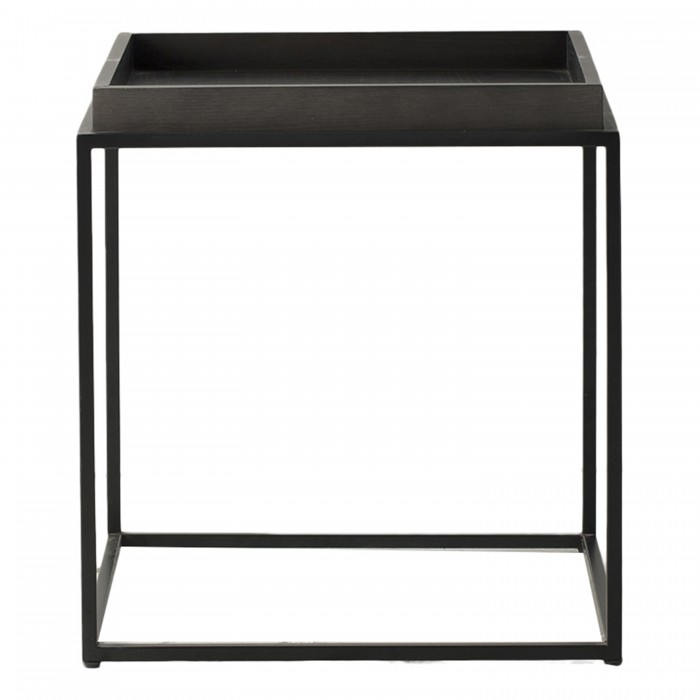 Forden Tray Side Table Black