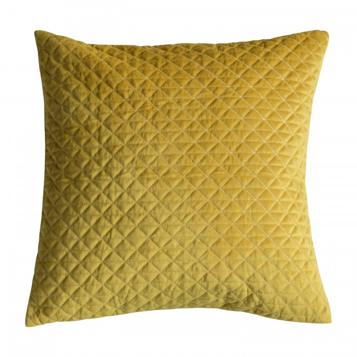 Diamond Quilted Cushion Ochre