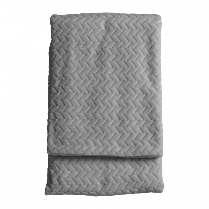 Embossed Chevron Throw Silver