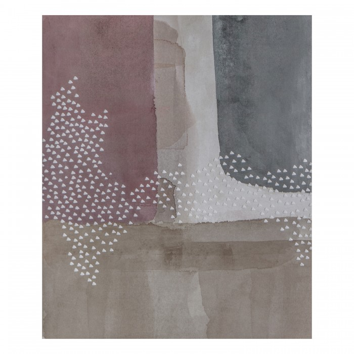 Blush Cubic Abstract I Printed Canvas