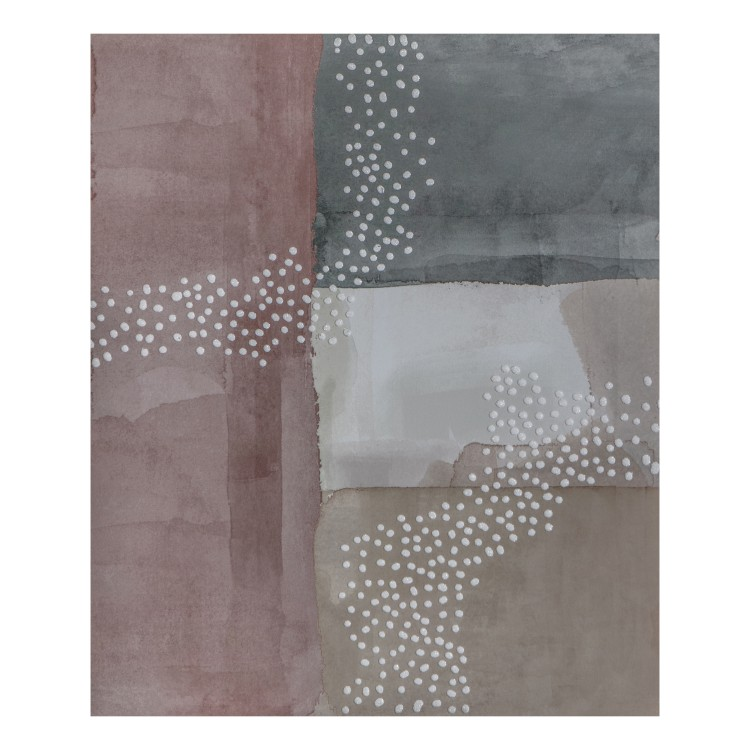 Blush Cubic Abstract II Printed Canvas