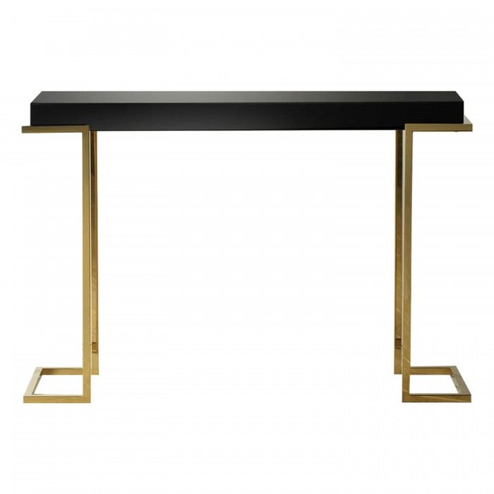 Delray Black Mirrored Console