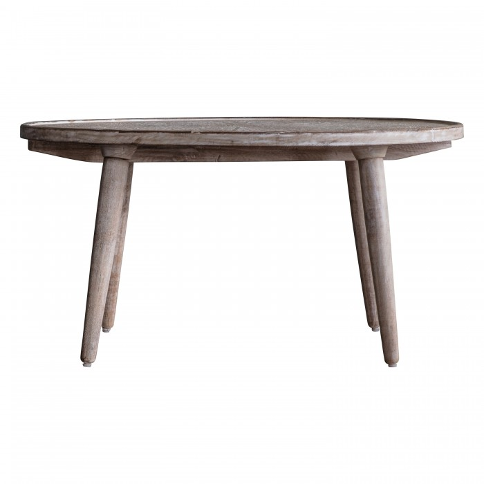 Agra Coffee Table Natural White