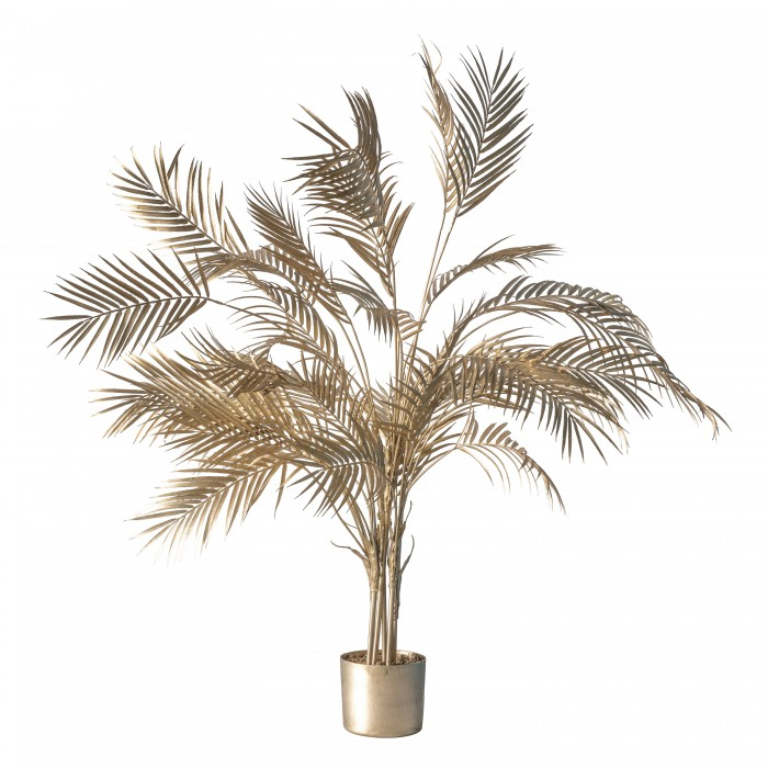 Boulevard Potted Palm Tree Champagne Gold Large