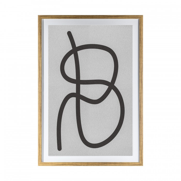 Dikkel Line Drawing Framed Art