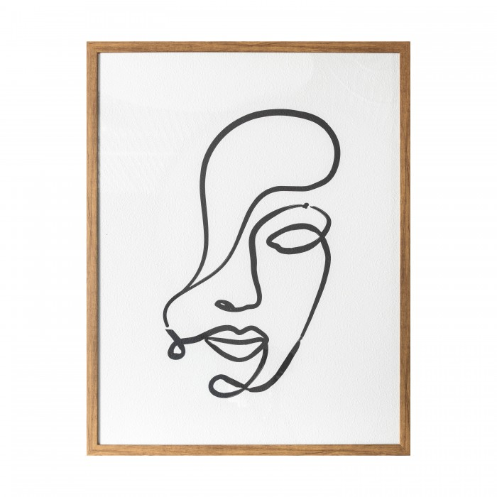 Contour Line Drawing Framed Print