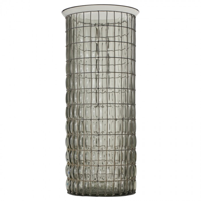 Pennington Vase with Wire Grey/Green