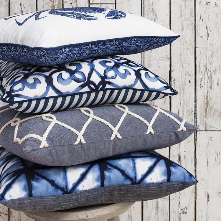 Agadir Cushion Ink Blue