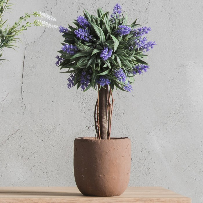 Faux Lavender Ball Tree