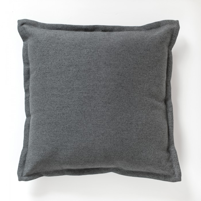 2 Tone Plain Cushion Charcoal