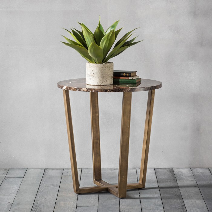 Emperor Round Side Table Marble