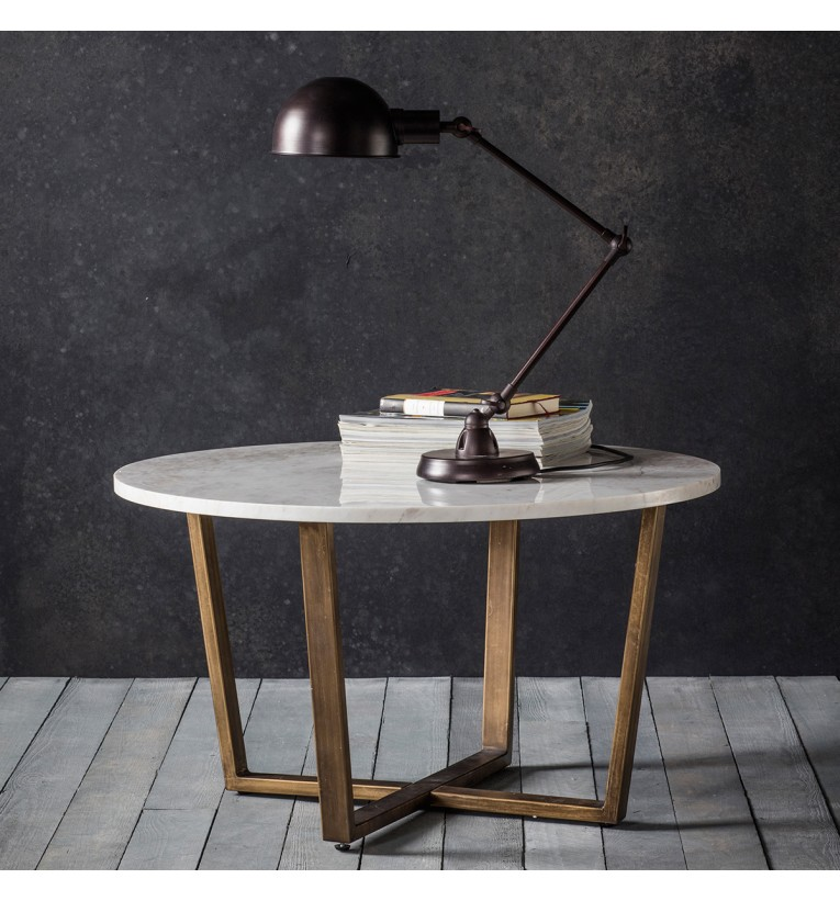 Cleo Round Coffee Table Marble