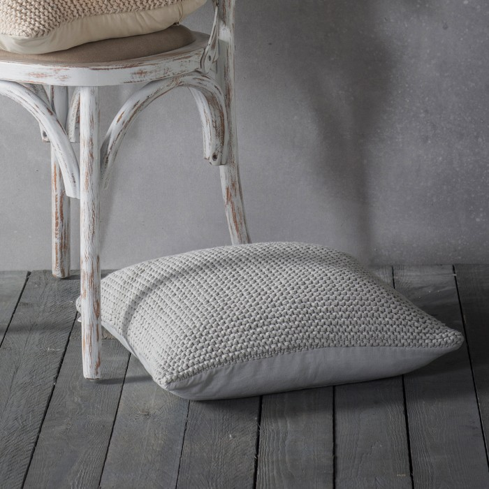 Opal Knitted Cushion Grey