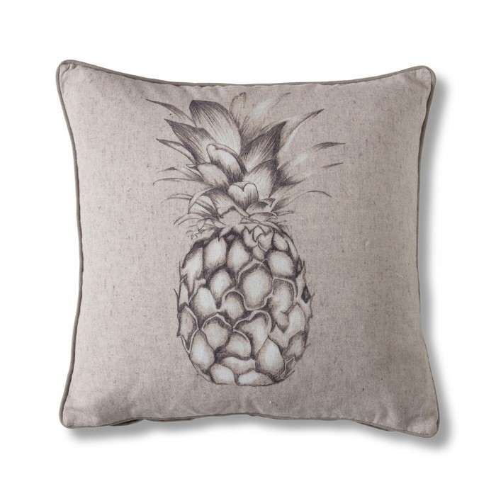 White Linen Pineapple Cushion