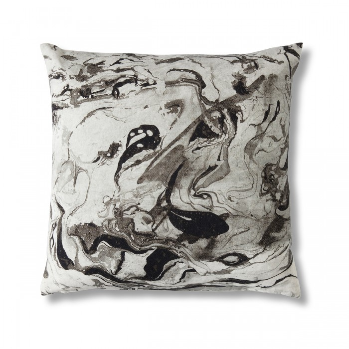 Marble Print Monochrome Cushion
