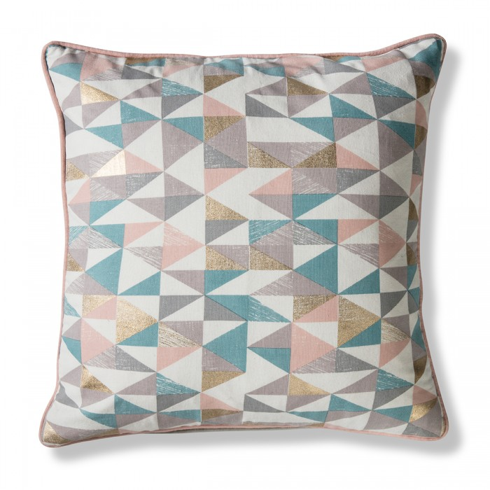 Triangle Geo Cushion Pastels & Gold