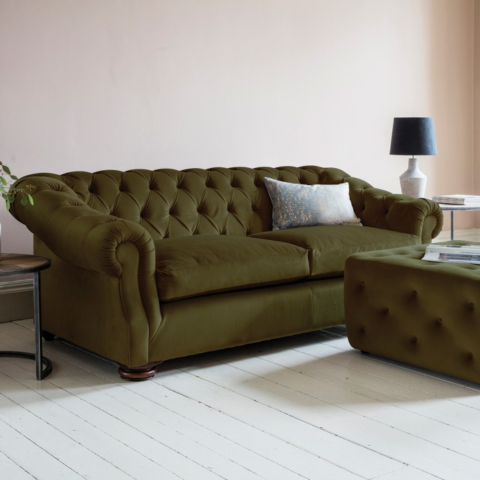 Hampton Sofa in Brussels Olive