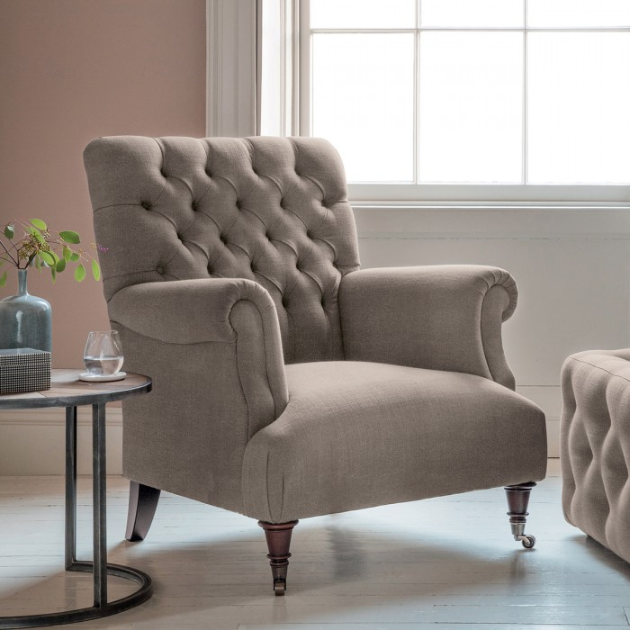 Hampton Armchair in Brussels Taupe