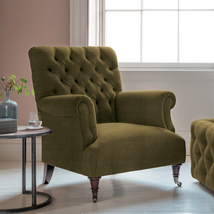 Hampton Armchair in Brussels Olive