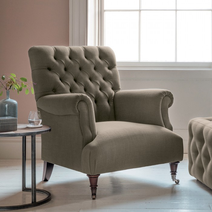 Hampton Armchair in Field Army