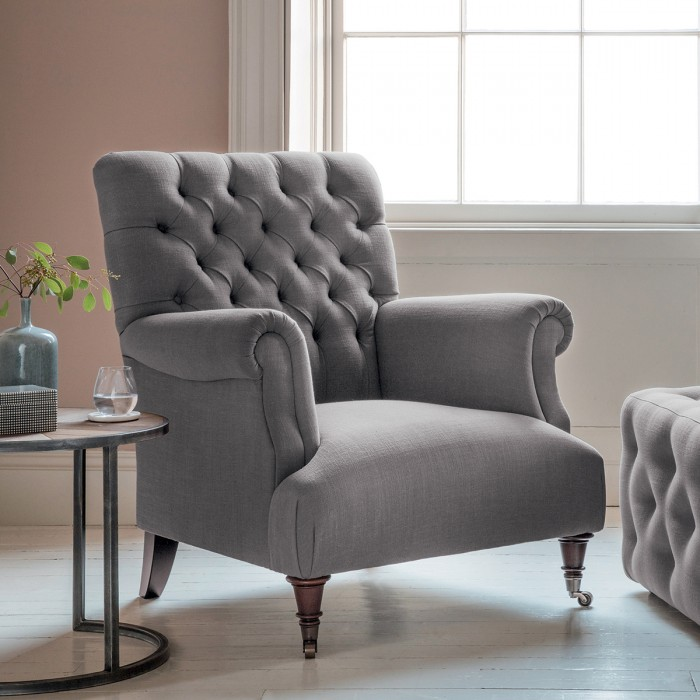 Hampton Armchair in Field Dark Grey