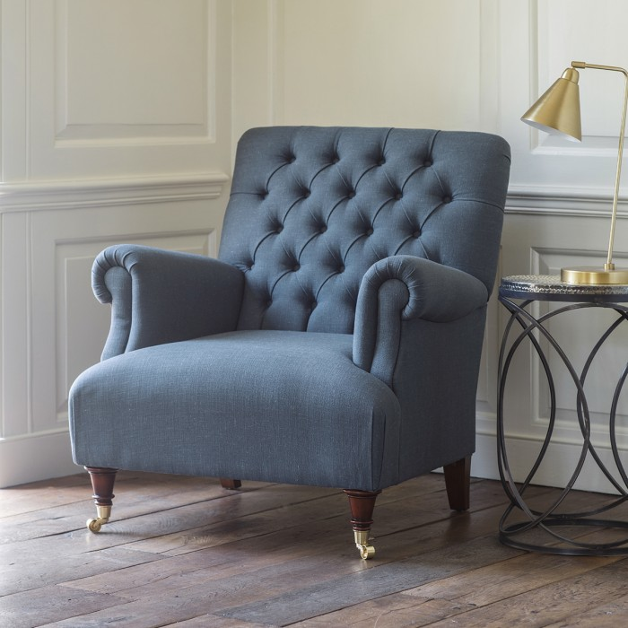 Hampton Armchair in Field Steel Blue