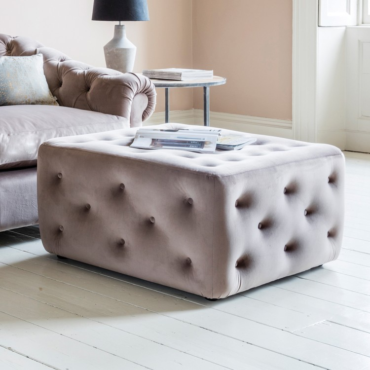 Hampton Ottoman in Brussels Taupe