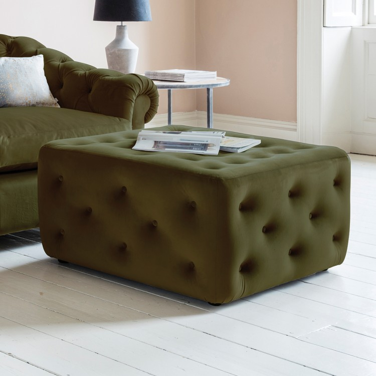 Hampton Ottoman in Brussels Olive