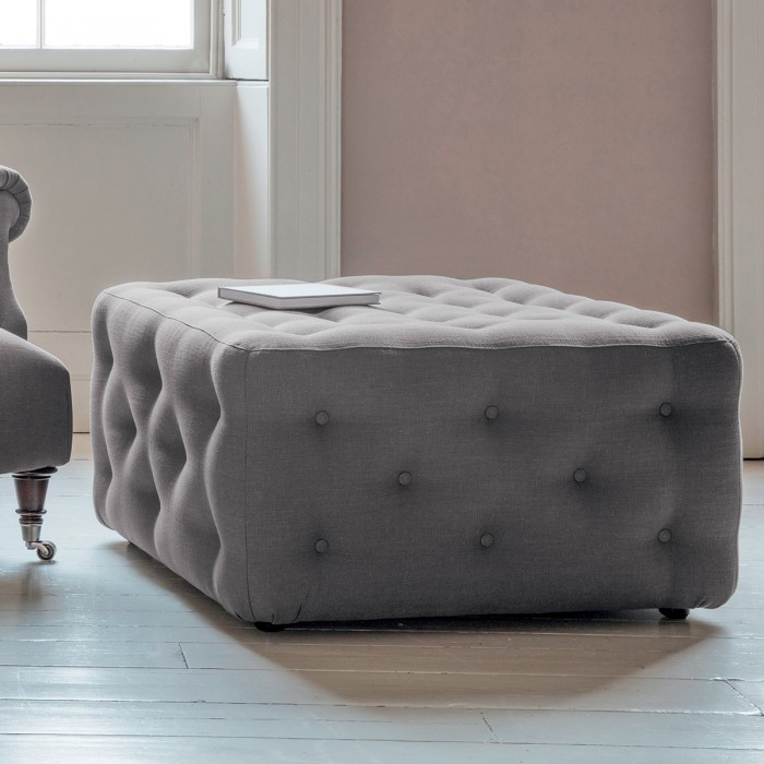 Hampton Ottoman in Field Dark Grey