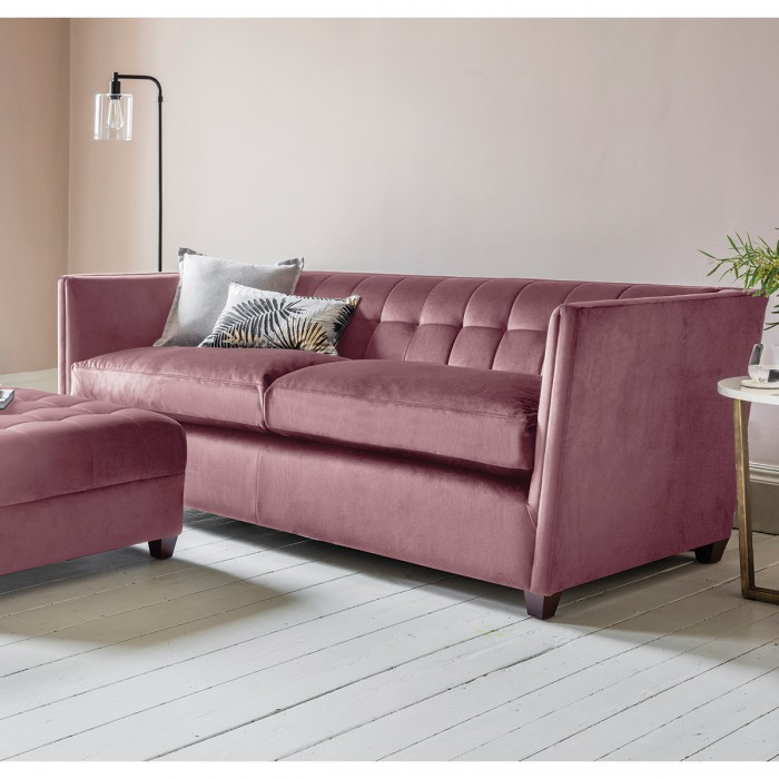 London 3 Seater Sofa in Brussels Rosewood