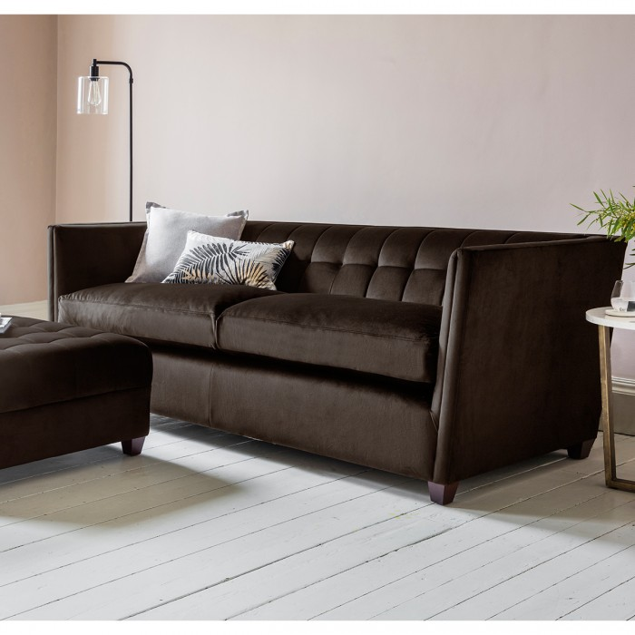London 3 Seater Sofa in Brussels Espresso