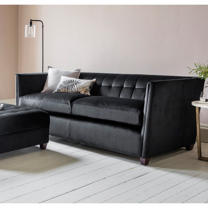 London 3 Seater Sofa in Brussels Black
